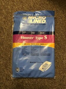 10 Microlined Vacuum Cleaner Bags for Hoover Type S Futura Spectrum Windtunnel