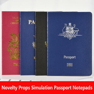 Novelty Props Passport Notepads Creative Simulation Passport Journal Notebooks