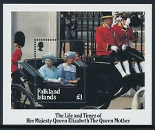 1985 FALKLAND ISLANDS LIFE & TIMES OF THE QUEEN MOTHER MINISHEET FINE MINT MNH