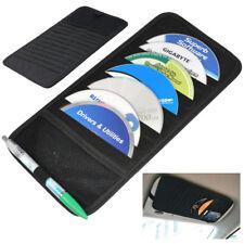 12 Disc CD DVD Car Sun Visor Card Case Wallet Storage Holder Bag Tidy Sleeve