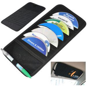 Car Sun Visor 12 Disc CD DVD Card Case Storage Holder Organizer Pocket Bag