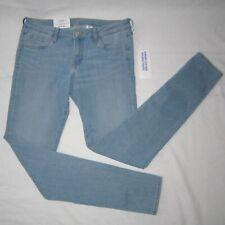 New H&M Ladies 28/32 Super Skinny Low Rise Waist Stretch Denim Jeans Light Blue