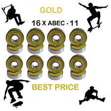 16 GOLD Abec 11 Wheel bearings Skateboard stunt scooter inline Roller skate 9