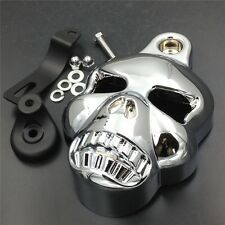 Skull Horn Cover For Harley Big Twins V-Rods Stock Cowbell 1992-2013 Chrome