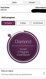 Hilton Honors Diamond Member Booking Service Free Suite Upgrade Free Breakfast