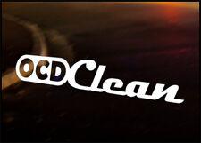 OCD CLEAN JDM Decal vinyl sticker, VW Japan Euro Drift Audi Detailing Valet