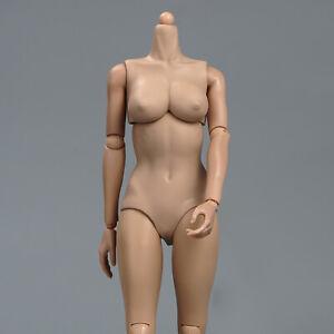 1/6 Scale Suntan Skin Middle Chest Female Body Flexible Action Figure Model