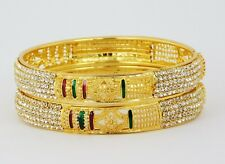 Indian Jewelry Gold Plated Bangle Set Bollywood Bridal Ethnic Bracelet Bsv114