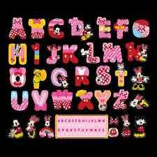 Minnie Mickey Mouse A-Z ALPHABET Wall Sticker Vinyl Decals Kids Baby Room Decor