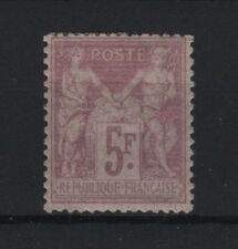 "FRANCE STAMP TIMBRE N° 95 "" SAGE 5F VIOLET SUR LILAS 1877 "" NEUF x TB  R589"