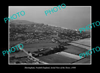 OLD LARGE HISTORIC PHOTO SHERINGHAM NORFOLK ENGLAND AERIAL VIEW DISTRICT c1950
