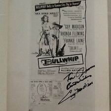 "Guy Madison  SIGNED 8x10 Photo    Movie Ad ""Bullwhip"" with Rhonda Fleming"