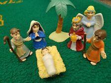 Set 7 Bible Toys PVC Figures Real Stories Bible mary joseph Jesus Nativity scene