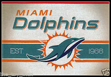 MIAMI DOLPHINS FOOTBALL NFL LICENSED VINTAGE TEAM LOGO INDOOR DECAL STICKER