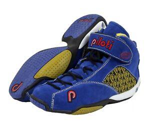 New Men's Piloti RSR Mid-Cut Driving Leather Boots Shoes Size 7-15 FIA SFI