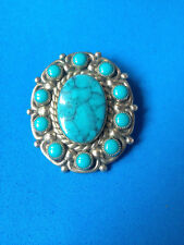 Boucle de Collier Turquoise & Nickel Silver Mexico / Belt Necklace