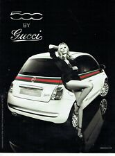 Publicité Advertising 079  2011  Fiat 500 by Gucci avec Kate Moss