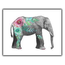 ELEPHANT METAL PRINT PLAQUE WALL SIGN home bedroom nature art decor
