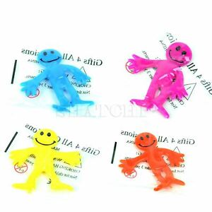 12 X Stretchy Men Face Kids Favour Birthday Loot Party Bag Fillers Pinata Toys
