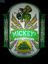 VTG 1983 MICKEY'S MALT LIQUOR BEER HORNET IN MOTION LED BAR LIGHT PUB SIGN SWEET