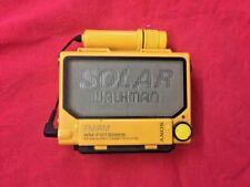 SONY WM-F107 - SOLAR WALKMAN - Rarität / Vintage in gelb