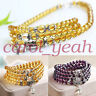 6mm Crystal Buddhist Amethyst 108 Prayer Beads Mala Bracelet Necklace Cheaply