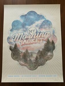 MY MORNING JACKET concert gig poster North Adams MA 2017 31/50 Silk Screen Show