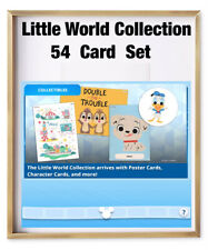 LITTLE WORLD COLLECTION-54 CARD SET-POSTERS/CHARAC/TIDBITS-TOPPS DISNEY COLLECT