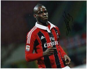 Mario Balotelli - Foto Autografata - Soccer Signed Photo Autografo Ac Milan Coa