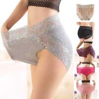 Women Sexy High Waist Floral Lace Panties Lingerie Underwear Briefs Knickers