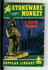 THE STONEWARE MONKEY by Freeman, US Pop Library #11 crime pulp vintage pb