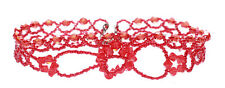 Opulent Ruby Red Crystal Beads Adjustable Choker Necklace(B5/zx125)