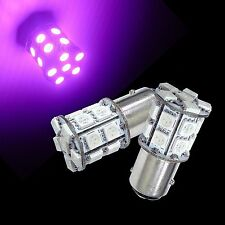 2 pcs 1157 2357 S25 Bay15D 20SMD 5050 LED Car Scooter Motor Bulbs Ultra Purple