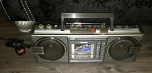 JVC 4 BAND FM AM RADIO CASSETTE BOOMBOX Vintage Retro 1980s RC-660 vgc working