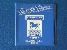 Ipswich Town FC Season Ticket 1990/91 booklet - Empty.