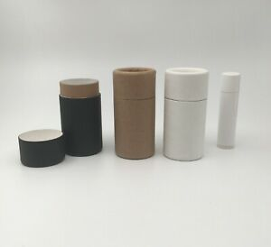 10 Eco Balm Tubes 1.25oz 35g - Kraft Paper Cardboard Push-Up Cosmetics Container
