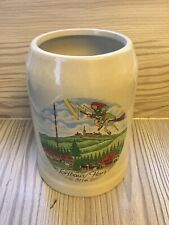 Vintage Torfhaus German Tankard Featuring Famous Flying Witch