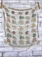 """Vintage Scarf With Pasta Types Semi Sheer Polyester Square 20x20"""""""