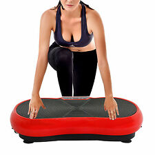 Full Body Vibration Platform W/ Remote Control Fitness Exercise Machine-RED