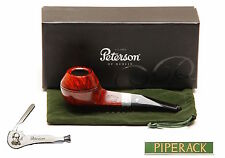 New Peterson Pipe Sherlock Holmes The Hudson Silver Band & P Lip Free Pipe Tool