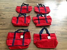 Lot of 6 New Macy's large travel bags tote beach totes handbags cool bags red