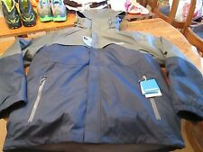 Columbia Men's Hooded Off Grid Interchange Jacket size Large NAVY/GRAY NWT $230