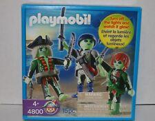PLAYMOBIL #4800 GLOW IN THE DARK 3 PIRATE FIGURE SET - 15pc new in box