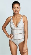 Zimmermann Helm Splice One Piece | Blue White Floral | Ladder/Lattice $500 RRP