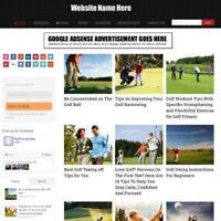 GOLF SHOP  - Home Based Make Money Website Business For Sale + Domain + Hosting