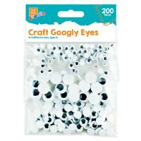 200x SMALL - LARGE GOOGLY EYES Craft Kids Fun Embellishment Flat Back Wiggly