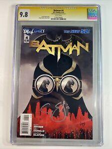 BATMAN #4 CGC 9.8 SS SCOTT SNYDER DC COMICS 1/12 GREG CAPULLO NEW 52
