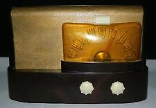 Vintage 1947 Emerson Table Radio Model 511 Bakelite Case Working Brown Case