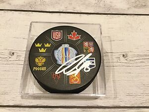 Tobias Rieder Signed 2016 World Cup of Hockey Puck Team Europe Germany a