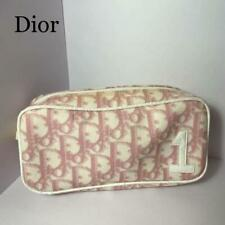 Christian Dior Trotter Pouch Small Bag Pink 18x9x5.5cm pre-owned wear condition